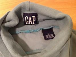 GAP Soft Turquoise (Blue/Green) 100% cotton Turtleneck Sweater, Size M image 7