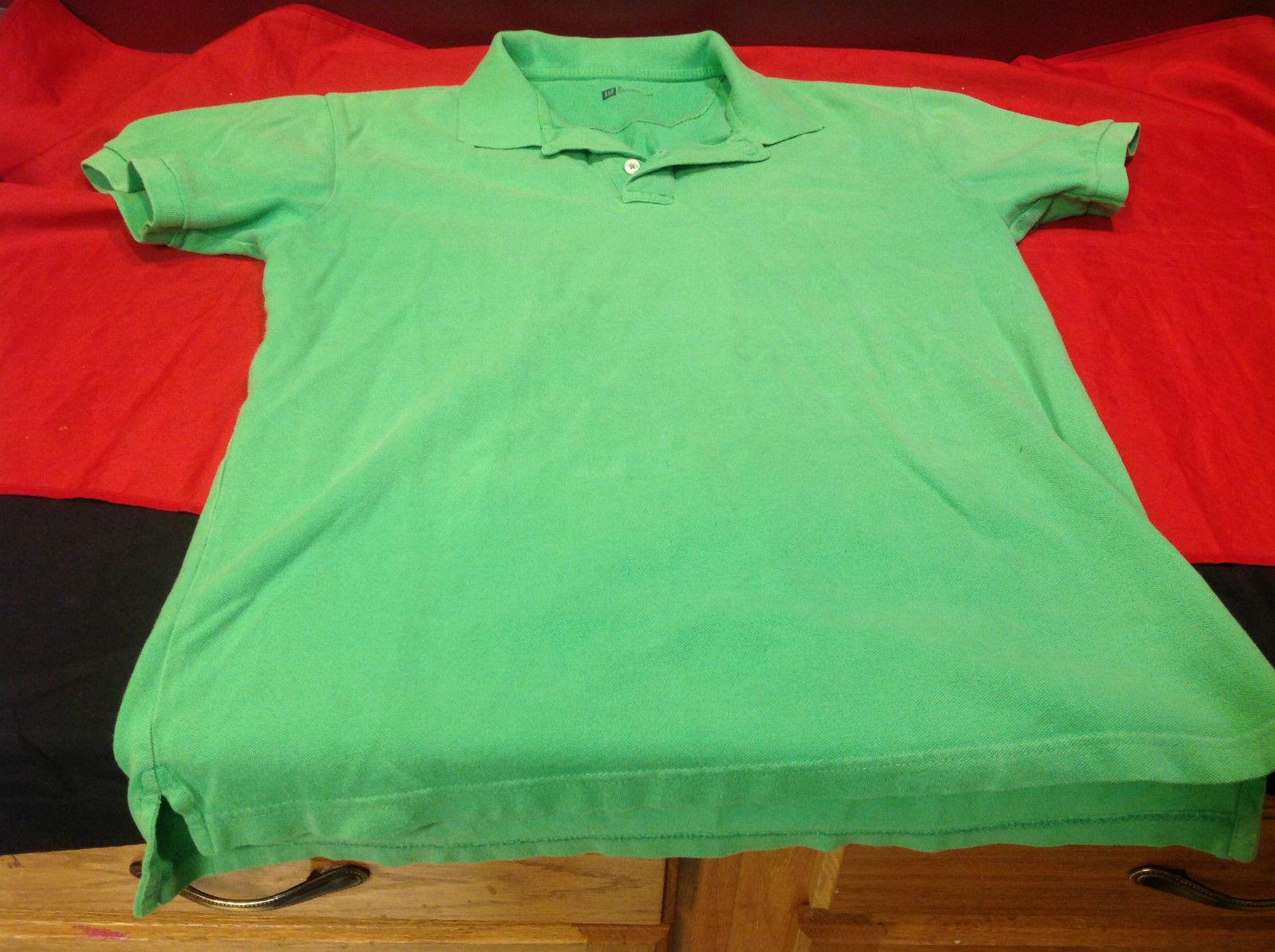 Gap Green/Lime Classic Fit Mens Short Sleeve Polo Shirt Size Medium image 8