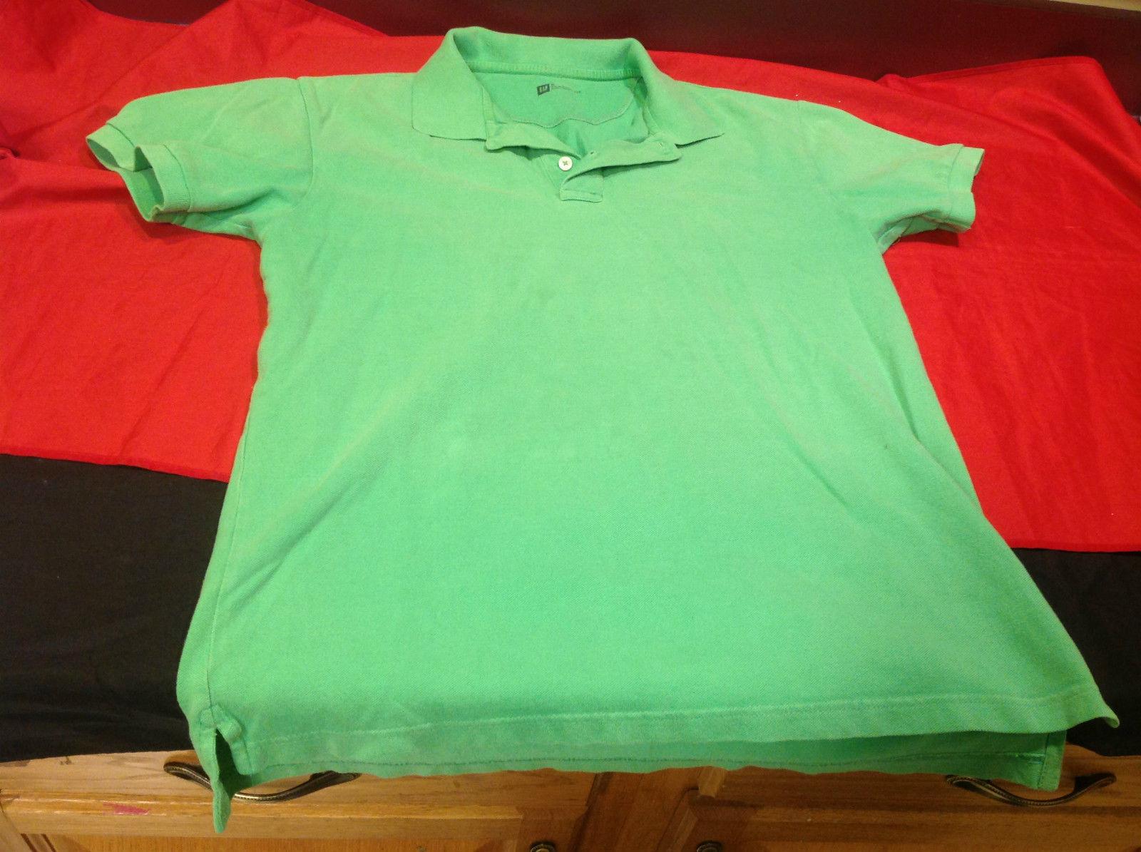Gap Green/Lime Classic Fit Mens Short Sleeve Polo Shirt Size Medium image 2