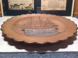 Gare Incorporated 1977 Vintage Decorative Gift  Plate Ship Father  Quote image 2