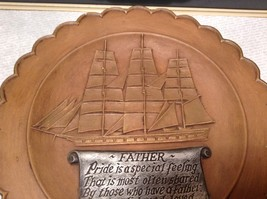 Gare Incorporated 1977 Vintage Decorative Gift  Plate Ship Father  Quote image 4