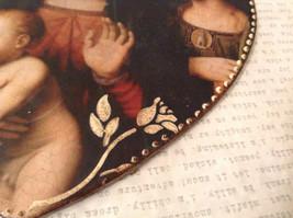 Handmade Decorative Wall Flat Plaque Ornament St. Catherine Madonna St. Barbara image 5