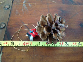 Handmade Pine Cone Pet Cow with Scarf Ornament Real Pine Cone image 6