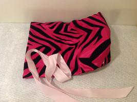 Handmade by Caroline Hallak Personal Touch Gift Bag Fuchsia Pink Black Velvet image 3