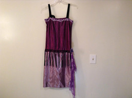 Handmade Dark Light Violet Sleeveless Evening Dress 20s Style Size Small Flapper image 2