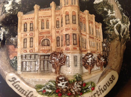 Handpainted Christmas Ornament Hamilton Country Courthouse 2005 Original Package image 6