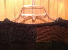 Gianfranco Ruffini Italy Dark Sweater Size Medium Checkered Pattern Multicolor image 4
