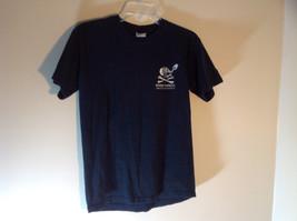 Gildan Ultra Cotton Black Graphic Short Sleeve T-Shirt Size Small Rum Skull image 2