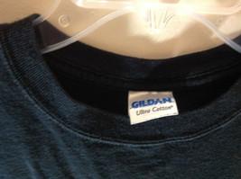 Gildan Ultra Cotton Black Graphic Short Sleeve T-Shirt Size Small Rum Skull image 4