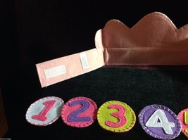 Girl's Birthday Hat flannels reusable pink felt crown with numbers 1 through 6 image 4