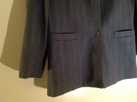 Giorgio Saint Angelo Gray Pinstriped Pant Suit 1 Button on Jacket Size 10 image 4