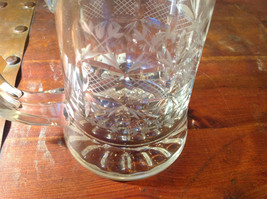 Glass Beer Stein with Metal Lid Made In Germany 9 Inches Tall image 6