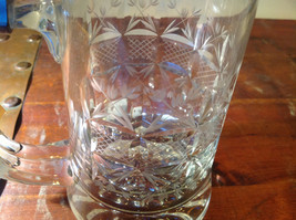 Glass Beer Stein with Metal Lid Made In Germany 9 Inches Tall image 5