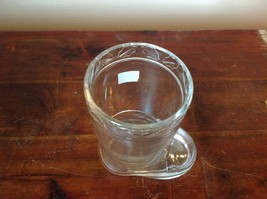 Glass Drinking Boot Cup Glass Leaf Relief 5 Inches High image 5