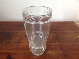 Glass Drinking Boot Cup Glass Leaf Relief 5 Inches High image 3
