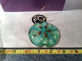 Glass Sand Dollar Blue Green Ornament by Holiday Tree Decoration image 5