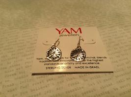 Handmade Sterling Silver Pendant Flat Earrings image 2