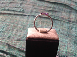 Glittering Emerald Light Catching CZ Synthetic Amethyst Ring Size Choice 7 or 8 image 6