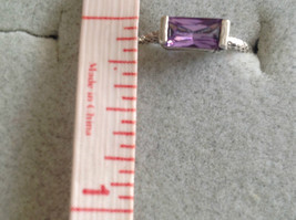 Glittering Emerald Light Catching CZ Synthetic Amethyst Ring Size Choice 7 or 8 image 10