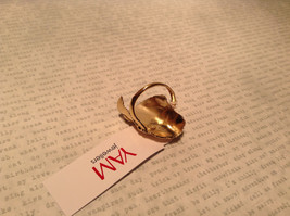 Gold Plated 14K Size 7 Ring Leaf Pearl Sterling Silver Base Freshwater Pearl image 6