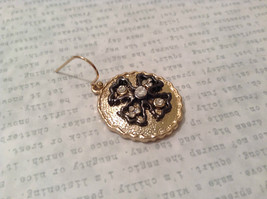 Gold Plated Round Cross CZs Dangling Earrings image 5
