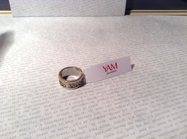 Gold Plated Bands Sterling Silver Size 7 Ring Judaica Inscription 2 Micron 14K image 5