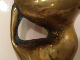 Gold Tone Cat Paperweight or Display Piece 3 Inches Tall image 3