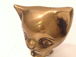 Gold Tone Cat Paperweight or Display Piece 3 Inches Tall image 4