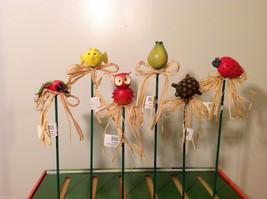 Home Grown Plant Pot Stick Pear  Bird  Play w your Food Sculpted image 4