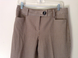 Gold White Black Plaid Pants by Talbots Petite Size 10 image 2