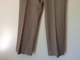 Gold White Black Plaid Pants by Talbots Petite Size 10 image 4