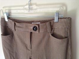 Gold White Black Plaid Pants by Talbots Petite Size 10 image 5
