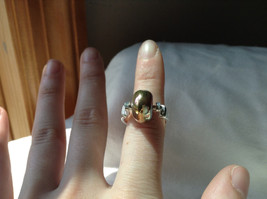 Gold Metallic Bead Silver Ring Size 4.75 by Beadit image 4