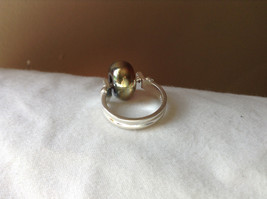 Gold Metallic Bead Silver Ring Size 4.75 by Beadit image 3