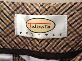 Gold White Black Plaid Pants by Talbots Petite Size 10 image 6