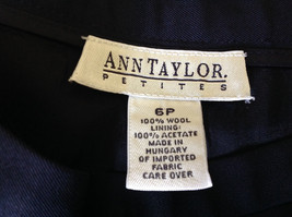 Good Looking Ann Taylor Petites Black 100 Percent Wool Dress Pants Size 6P image 5