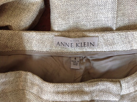 Gorgeous Dress Pants by Anne Klein Petite Light Colors Imported Fabric Size 4 image 6