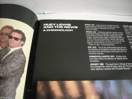 Huey Lewis and the News World Tour Concert Booklet Program 1986 image 10