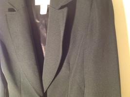 Hugo Buscati Pure Black Formal Jacket Blazer One Front Button Size 4 image 3