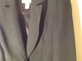 Hugo Buscati Pure Black Formal Jacket Blazer One Front Button Size 4 image 4