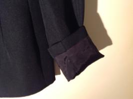 Hugo Buscati Pure Black Formal Jacket Blazer One Front Button Size 4 image 6