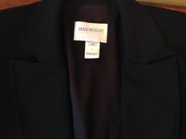 Hugo Buscati Pure Black Formal Jacket Blazer One Front Button Size 4 image 9