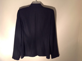 Hugo Buscati Pure Black Formal Jacket Blazer One Front Button Size 4 image 7