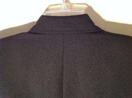 Hugo Buscati Pure Black Formal Jacket Blazer One Front Button Size 4 image 8