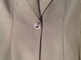 Hugo Buscati Pure Black Formal Jacket Blazer One Front Button Size 4 image 5