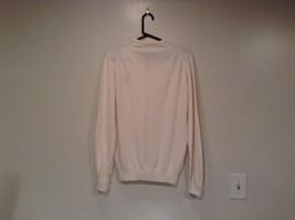 IZOD White V Neck 100 Percent Acrylic Long Sleeve Sweater Size Large No Tags image 5