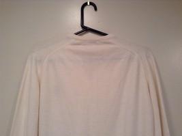 IZOD White V Neck 100 Percent Acrylic Long Sleeve Sweater Size Large No Tags image 6