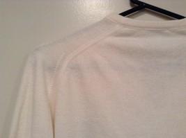 IZOD White V Neck 100 Percent Acrylic Long Sleeve Sweater Size Large No Tags image 7