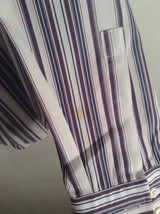 Hugo Boss Blue Pink Red White Striped Button Up Long Sleeve Shirt Size 16 by 34 image 4