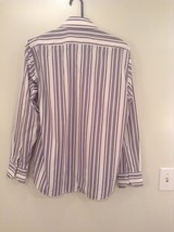 Hugo Boss Blue Pink Red White Striped Button Up Long Sleeve Shirt Size 16 by 34 image 5